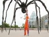 Alain Stilt-Walking and Juggling under the Spider