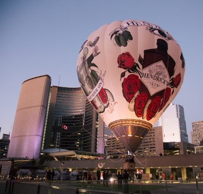 Hendrick's Gin Balloon, downtown Toronto
