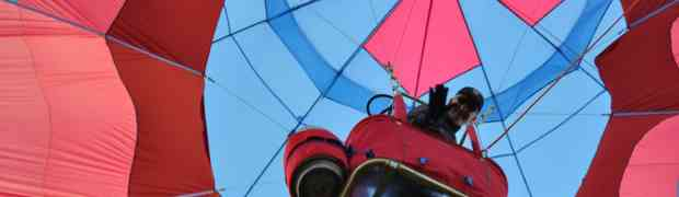 The world's only flying Glass-Bottom Hot Air Balloon?